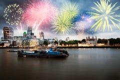 nytt år för stad royaltyfri fotografi
