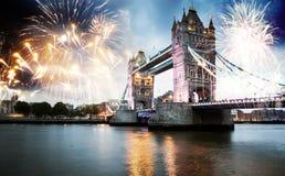 nytt år för stad arkivfoton