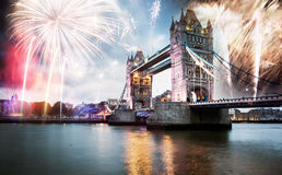 nytt år för stad royaltyfria foton