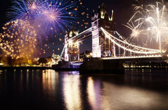 nytt år för stad arkivfoto