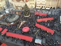 Nytt år i Prague arkivbild