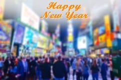 Nytt år i Times Square Arkivbild
