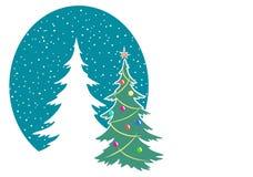 Nytt år och glad jul som hälsar affischen, etikett, symbol Royaltyfria Foton