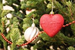 Nytt år och julgranar för julgarneringleksak, lägenhethus Royaltyfria Bilder