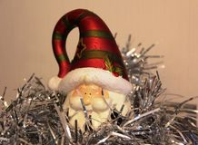 Nytt år och julgranar för julgarneringleksak, lägenhethus Royaltyfri Bild