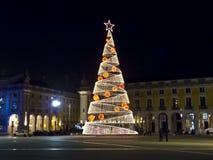 Nytt år på Lissabon Royaltyfri Fotografi
