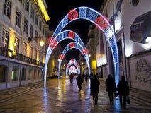 Nytt år på Lissabon Arkivfoton