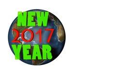 nytt 2017 år på planeten Royaltyfri Bild