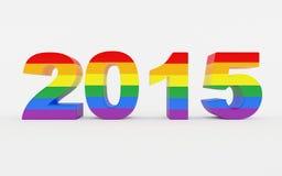 Nytt år Pride Festival 2015 Royaltyfria Bilder