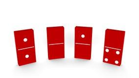 Nytt år 2014 - röd dominobrickastil Arkivfoton