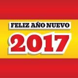 Nytt år Spanien 2017 Royaltyfri Bild