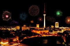 Nytt års helgdagsafton i berlin fotografering för bildbyråer