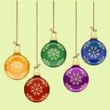 Nytt års julgranbollar Arkivbilder