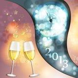 Nytt års kort för helgdagsaftonhälsning Arkivfoton