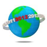 nytt år 2012 för begrepp royaltyfri illustrationer