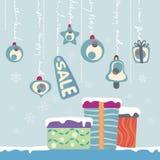 nytt år för gåvor stock illustrationer