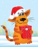 nytt år för katt Arkivbilder