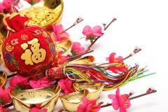 nytt år för kinesiska garneringar Royaltyfri Fotografi