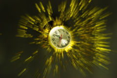 nytt år för klockaexplosion royaltyfria bilder