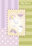 Nytt baby showermeddelande Royaltyfri Foto