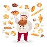 nytt bageri royaltyfri illustrationer