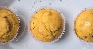 Nytt bakad bästa sikt för muffin Arkivfoton
