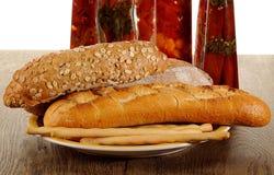 Nytt bakat bröd - materielbild Royaltyfri Fotografi