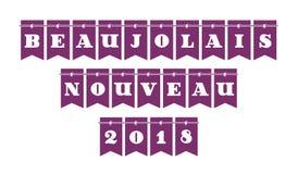 Nytt Beaujolaisvin 2018 i franskt vektor illustrationer