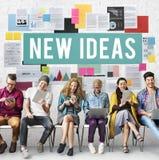 Nytt begrepp för vision för proposition för idédesignmål Arkivbild