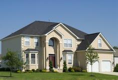 nytt bostads för hus Arkivbilder