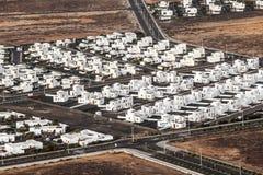 Nytt bostadsområde i Lanzarote Royaltyfri Foto