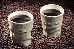 Nytt bryggat retro kaffe Royaltyfri Bild