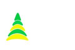 Nytt det begreppsmässiga trädet för år som och för jul göras av en färgpapp isolerat Arkivfoton