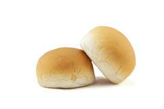Nytt dubbelt bröd som isoleras på vit bakgrund Arkivfoton