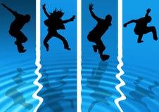 nytt folk för aqua vektor illustrationer