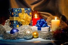 nytt fortfarande år för jullivstid Arkivfoto