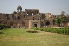 nytt gammalt för delhi fort royaltyfri fotografi