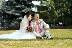 Nytt gift par Arkivbild
