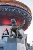 Nytt gifta sig för slott som är upplyst i aftonen i Kazan Arkivfoton