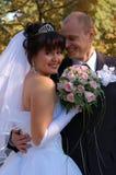 Nytt gifta sig par Arkivfoton