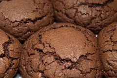 Nytt gjorda choocolatekakor Arkivbild