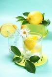 nytt glass citronvatten Arkivbild