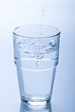 nytt glass vatten Arkivbild