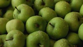 Nytt grönt för äpplen rambruk mycket som bakgrund lager videofilmer