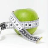 nytt grönt mätande band för äpple Arkivbilder