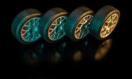 nytt gummihjul för bil royaltyfria foton