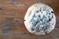 Nytt hemlagat släntrar av bröd Arkivbild