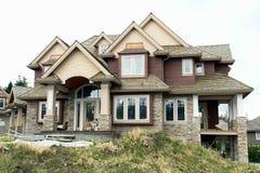 nytt home hus för konstruktion Arkivbilder