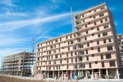 Nytt hus under konstruktion, Spanien Arkivbilder