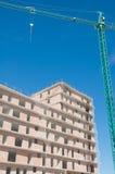 Nytt hus under konstruktion, Spanien Arkivbild